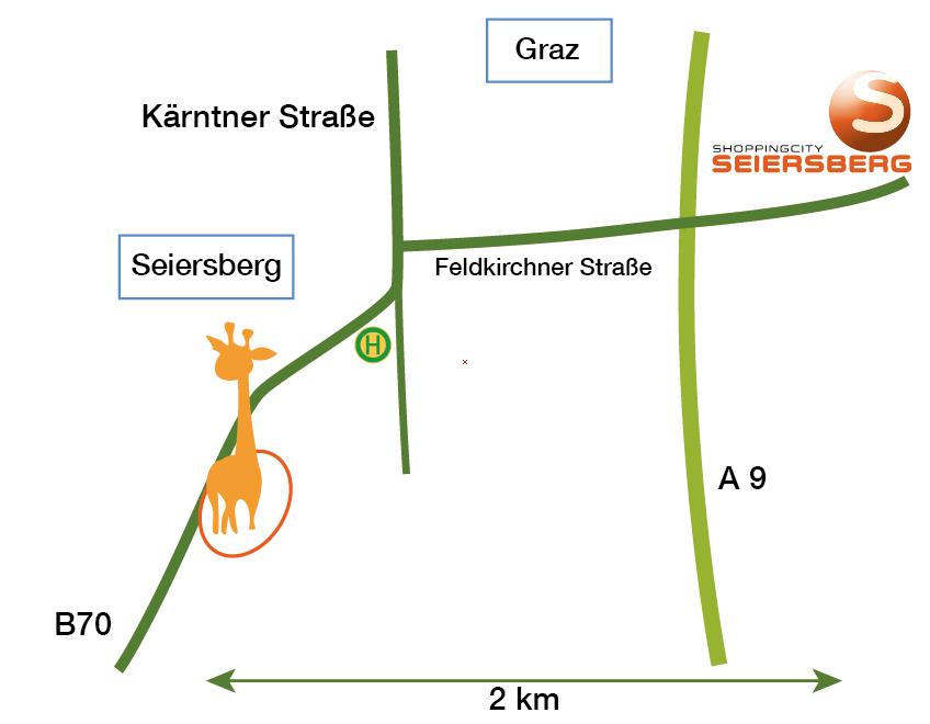 Anfahrtsskizze Kleintierzentrum