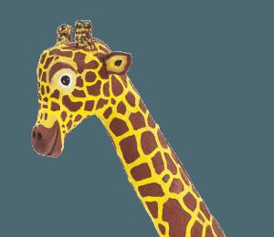 Kopf unserer lebensgroßen Giraffe von Künstler Franz Warnung