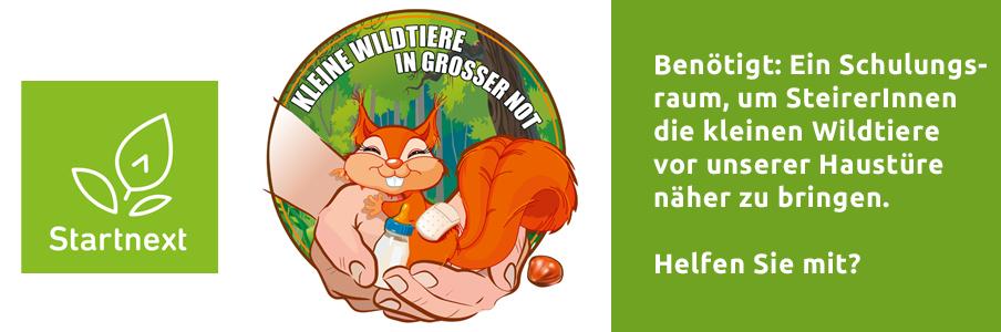 Crowdfunding-Aktion Verein Kleine Wildtiere in Großer Not auf Startnext